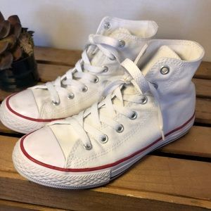 Converse All star white hi top 2